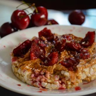 cherry rice cake